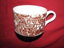 brown transferware vintage CUP landscape English Ironstone  BROADHURST