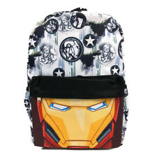 "Marvel Avenger Iron man All Printed 16"" Large Canvas Backpack School Book Bag"