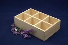 Llanura de madera caja de almacenamiento perfecta para Decoupage y otras embarcaciones (19x12x5)