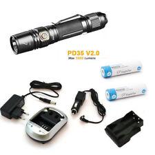 Fenix PD35 Cree XM-L2 U2 LED Taschenlampe + 2x Akku 18650 Li-Ion + Ladegerät