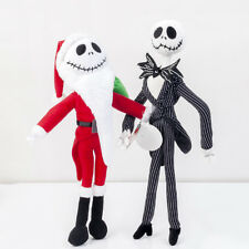 2PCS Disney Nightmare Before Christmas Jack Santa Poseable Plush Toys Xmas Gift