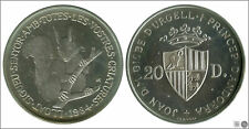 Andorra  Moneda  20 Diners 1984 / Ardilla / 16 gr. plata / En Capsula PROOF KM0