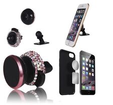 Pink Car Accessory Bling Diamond Crystal Cellphone Mount Holder for Girls Women