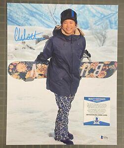 Chloe Kim Signed 11x14 Photo Autographed Olympic Snowboarder Beckett BAS COA
