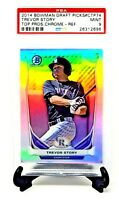 2014 Bowman Chrome REFRACTOR Rockies TREVOR STORY Rookie Card PSA 9 MINT Pop 33