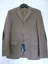 NWT $795 POLO RALPH LAUREN CUSTOM FIT ELBOW PATCH BLAZER SZ 40R, MADE IN ITALY