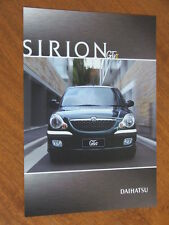2002 Daihatsu Sirion GTvi original Australian Features and Specification sheet