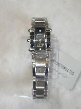 Chronotech Black Dial Stainless Steel Crystal Quartz Watch new