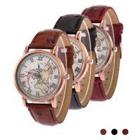 neue mode - lässig auf frauen armbanduhr persönlichkeit weltkarte flugzeug KS