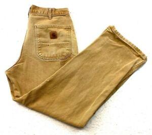 Vintage 90s Carhartt B11-BRN Loose Original Fit Workwear Pants Size 33 x 30