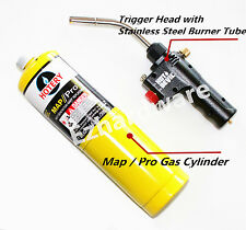 MAP/PRO GAS BLOW TORCH KIT WITH TRIGGER HEAD WITH CLICK-ON STABLE BASE