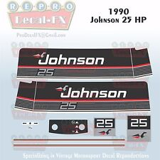 1990 Johnson 25 HP Sea-Horse Outboard Reproduction 11 Pc Marine Vinyl Decals