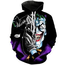 Fashion Women Men 3D Print Funny Joker Squad Hip Hop Hoodies Pullover Sweatshirt