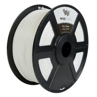 WYZwork 3D Printer Premium PLA Filament 1.75mm 1kg/2.2lb - White GLOW Green