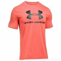 Under Armour Sportstyle Logo TShirt SS Orange/Black Size Large Mens Tee *REF75