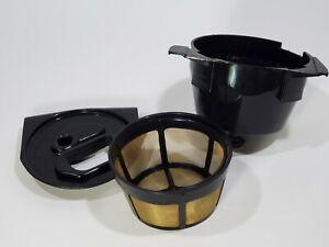 Cuisinart Grind & Brew DGB-600 Filter Basket, Holder, & Lid Black