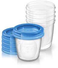 Philips Avent SCF619/05 Aufbewahrungsbecher für Muttermilch, 5x 180 ml Bech