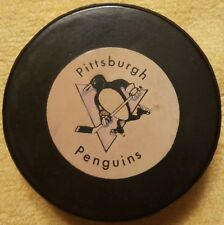 PITTSBURGH PENGUINS RAWLINGS OFFICIAL GAME PUCK RUBBERIZED FRONT LOGO VINTAGE