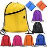 Premium School Drawstring Book Bag Sports Gymsac Swim PE Backpack Solid Sacks