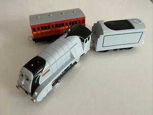 Tomy Trackmaster Thomas The Tank Engine Battery Train Original Spencer and Coach