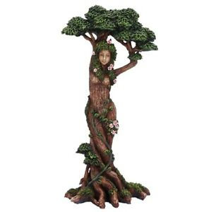 Mother Nature Tree Spirit Pagan Wiccan Woodland Figurine Statue Ornament NEW 🌴