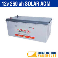 12V 260Ah DEEP CYCLE AGM BATTERIES FOR 12V/ 24V/ 48V BATTERY BANK