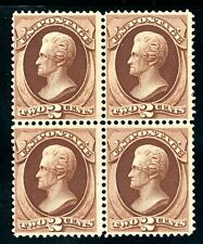 USAstamps Unused FVF US 1870 Jackson Block of 4 Scott 146 NH RG With Certificate