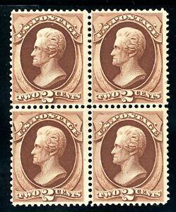 USAstamps Unused FVF US 1870 Jackson Block of 4 Scott 146 NH RG With Certificate