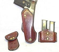 "VINTAGE  1911 / KART -  6.5""  ERNIE HILL / LEATHAM ENOS  3-PIECE HOLSTER SET"