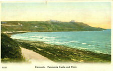 1909 postcard Pendennis Castle and Point FALMOUTH Cornwall