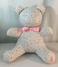 "Ralph Lauren Polo Plush Flowers Floral Pink 10"" Baby Bear Teddy"