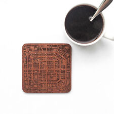 Beijing map coaster One piece  wooden coaster Multiple city IDEAL GIFTS