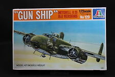 XY038 ITALERI 1/72 maquette avion 129 Gun Ship Mitchell B25 H/J Versions 1983