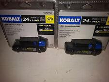*LOT OF 2* Kobalt 24V Max 1.5Ah Li Battery KB 124-03 NEW Part # 0761709