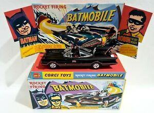 CORGI Toys Batman 267 Repro Box & Stand with 1:43 BATMOBILE Die-cast Model Car