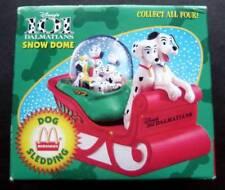 Disney Snow Dome Globe 101 Dalmatians McDonalds 1996  - Dog Sledding  MIB