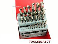 NEW 25 PIECE HIGH SPEED STEEL HSS DRILL SET METAL INDEX BOX METRIC 1MM TO 13MM