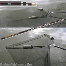 """42"""" Inch Carp Pike Fishing Landing Net 3.2m 10ft Handle + Dual 2 Net Floats NGT"""