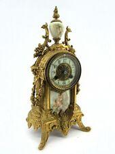 Beautiful Antique Waterbury Sartoris Baroque-Style 8-Day Key-Wound Clock
