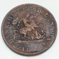 1852 Bank Upper Canada Half Penny Token Circulated Canadian Coin D803