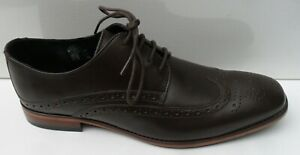 John White New Brown Leather Formal Brogue - Size UK 8 EUR 42 RRP £130