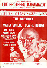 "BROTHERS KARAMAZOV SheetMusic ""Love Theme"" Yul Brynner Maria Schell Claire Bloom"