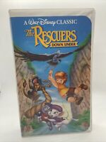 A Walt Disney's Classic -The Rescuers Down Under VHS#1142 Black Diamond Edition