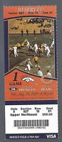 2009 NFL CHICAGO BEARS @ DENVER BRONCOS FULL UNUSED FOOTBALL TICKET