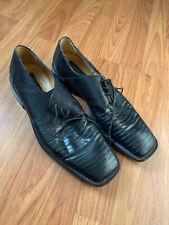 Mezlan Genuine Lizard Dress Shoes 10.5 Mens 3 eyelet