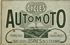 Publicité ancienne cycles automoto usines de St Etienne 1918 issue de magazine