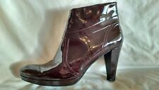 Kennel and Schmenger Womens Burgundy Patent Leather Ankle Boots Size 6/39 Used