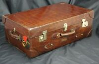 Sublime XL Vintage Crocodile Trunk Suitcase