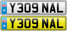 PRIVATE NUMBER PLATE Y309 NAL NA NL PEUGEOT 309 BARGAIN NUMBER PLATE NAL 309 NAL