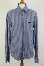 DOLCE & GABBANA - D&G Mens Blue Striped SHIRT - Size IT 50 - L - Large